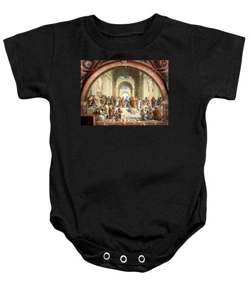 School Of Athens Baby Onesie