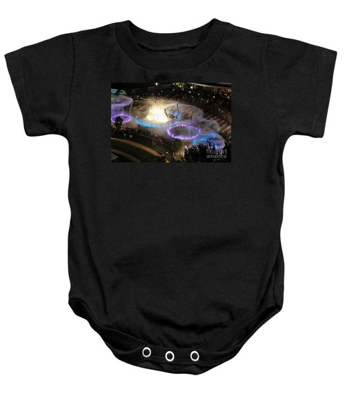 D101l-216 Scioto Mile Riverfront Park Fountain Photo Baby Onesie
