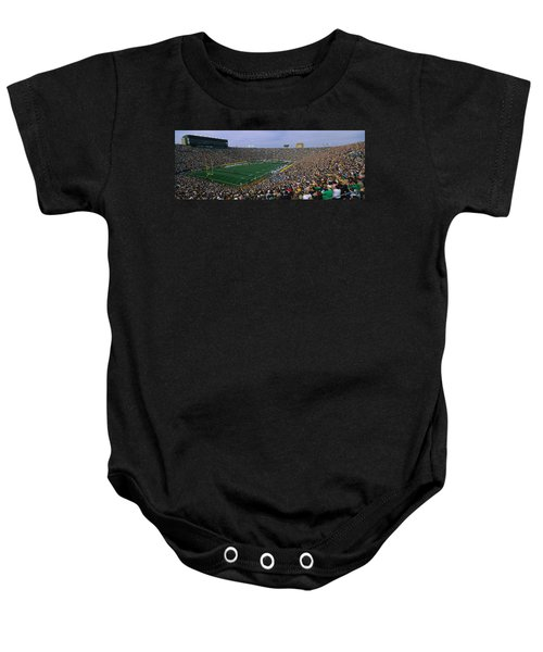 High Angle View Of A Football Stadium Baby Onesie