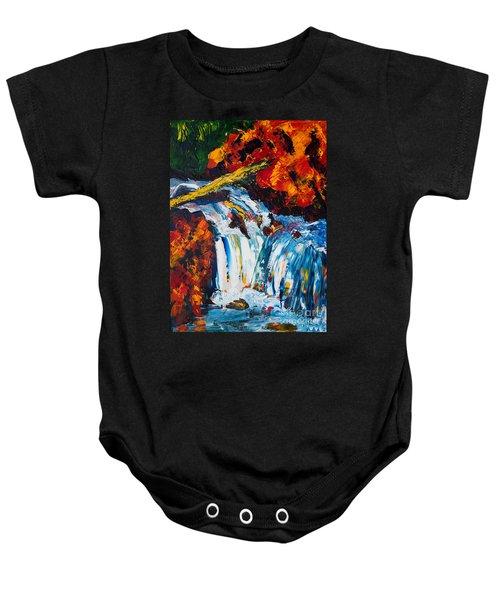Log And Waterfall Baby Onesie
