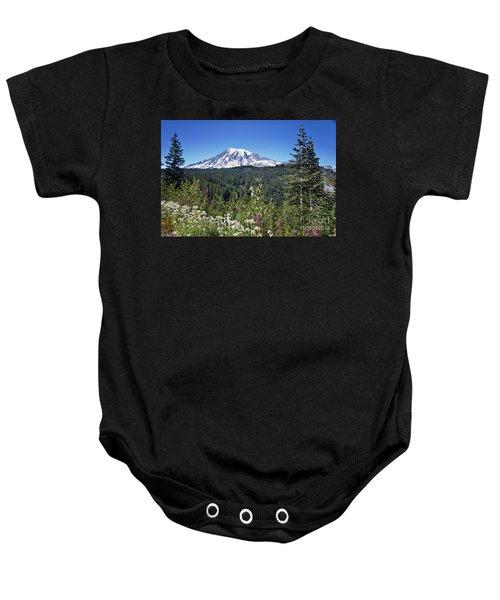 Mount Ranier Baby Onesie