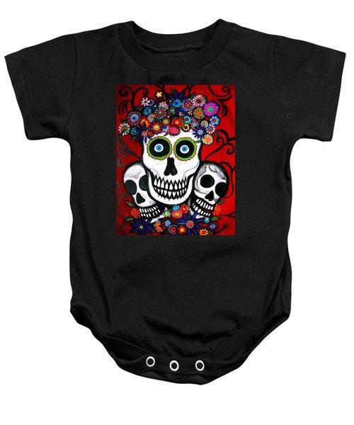 3 Skulls Baby Onesie