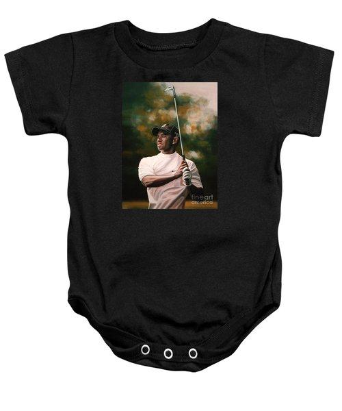 Tiger Woods  Baby Onesie by Paul Meijering