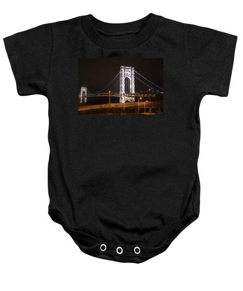 George Washington Bridge On President's Day Baby Onesie