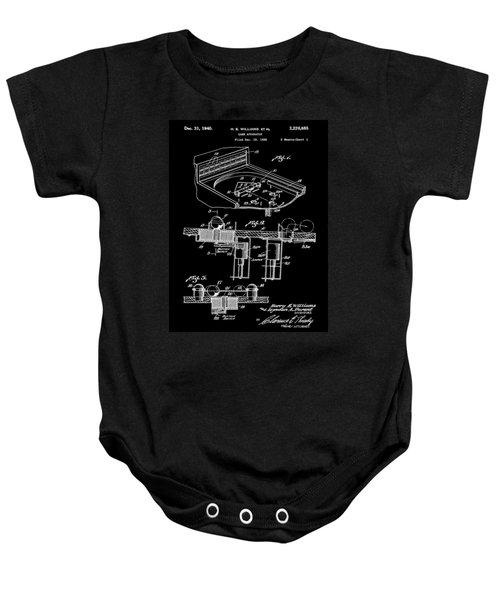 Pinball Machine Patent 1939 - Black Baby Onesie by Stephen Younts