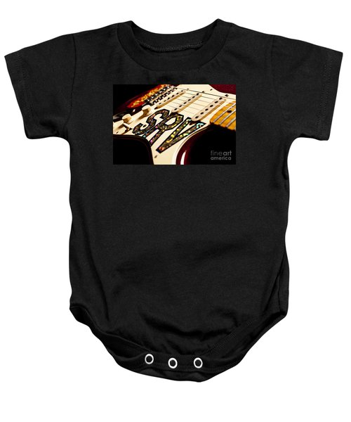 Replica Stevie Ray Vaughn Electric Guitar Artistic Baby Onesie by Jani Bryson