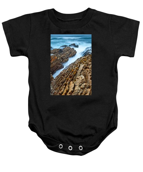 The Jagged Rocks And Cliffs Of Montana De Oro State Park In California Baby Onesie