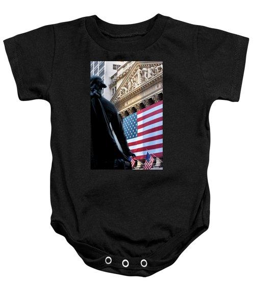 Wall Street Flag Baby Onesie
