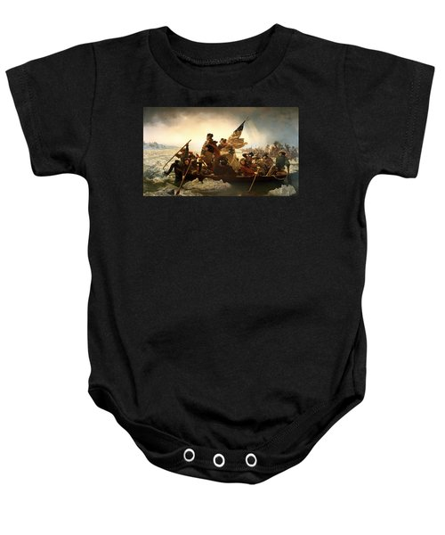 Washington Crossing The Delaware Baby Onesie
