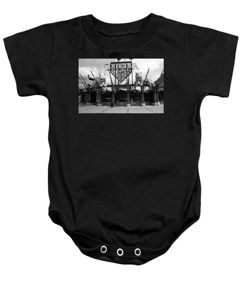 Baby Onesie featuring the photograph Comerica Park - Detroit Tigers by Frank Romeo