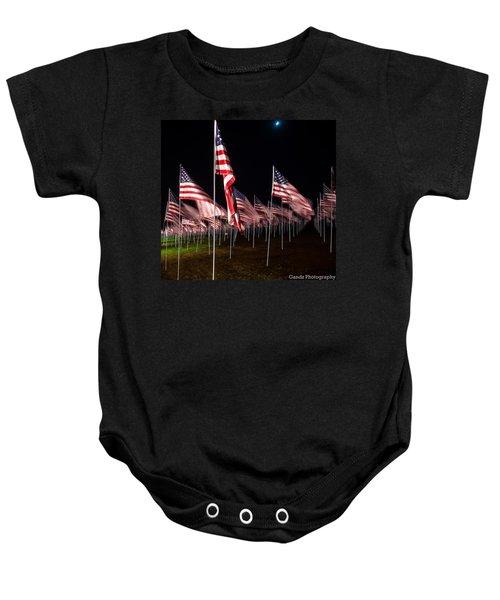 9-11 Flags Baby Onesie