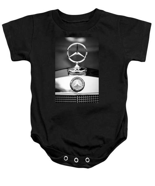 Mercedes-benz Hood Ornament Baby Onesie