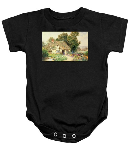 A Cottage By A Duck Pond Baby Onesie