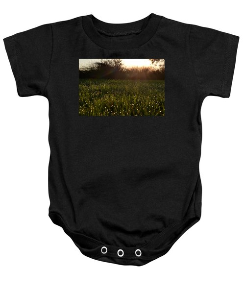 A Field Of Jewels Baby Onesie