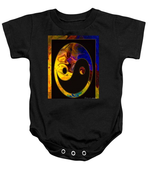 A Happy Balance Of Energies Abstract Healing Art Baby Onesie