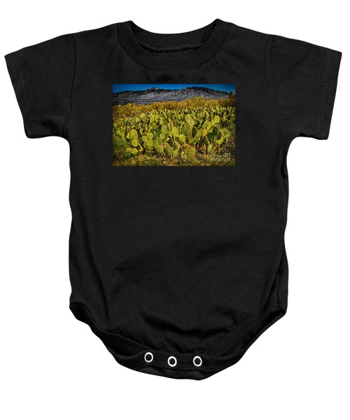 Baby Onesie featuring the photograph A Prickly Pear View by Mark Myhaver