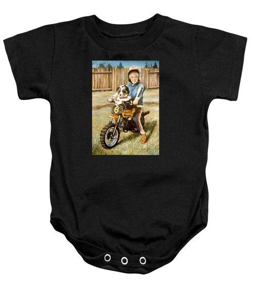 A Ride In The Backyard Baby Onesie