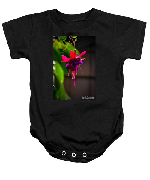 A Special Red Flower  Baby Onesie