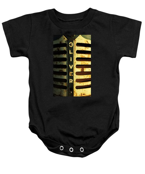 A Tractor Named Oliver Baby Onesie