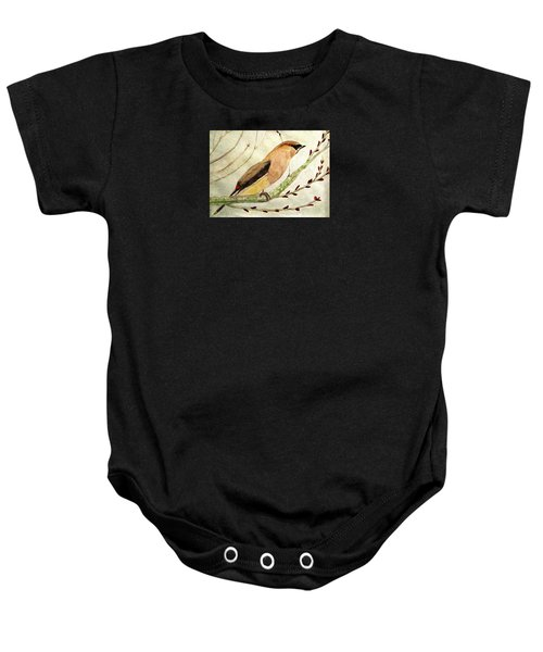 A Waxwing In The Orchard Baby Onesie