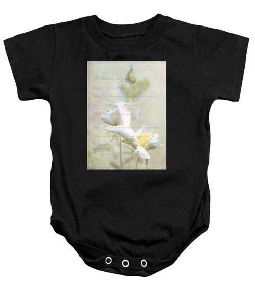A White Rose Baby Onesie