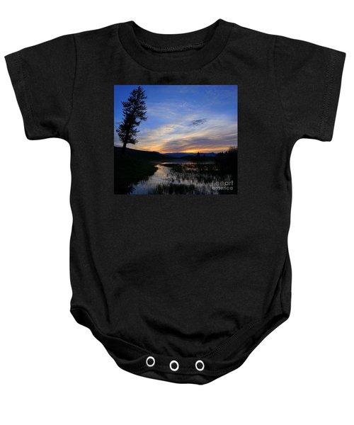 A Yellowstone Lake Before Sunrise Baby Onesie