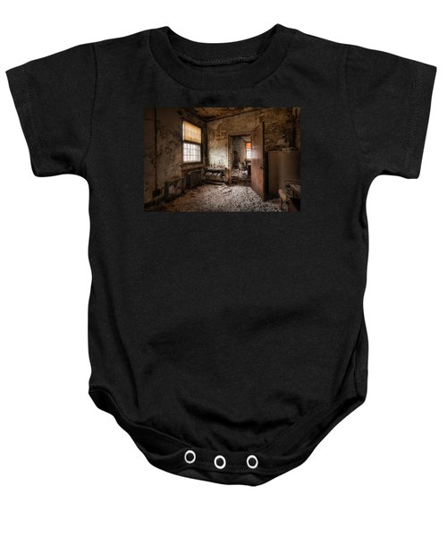 Abandoned Asylum - Haunting Images - What Once Was Baby Onesie