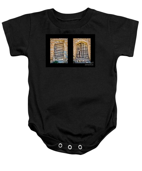 Abandoned Diptych Baby Onesie