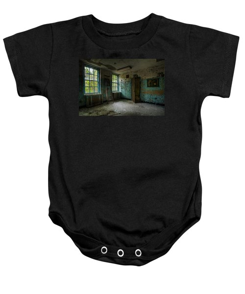 Abandoned Places - Asylum - Old Windows - Waiting Room Baby Onesie