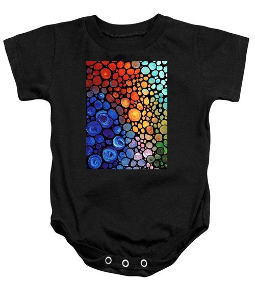 Abstract 1 - Colorful Mosaic Art - Sharon Cummings Baby Onesie