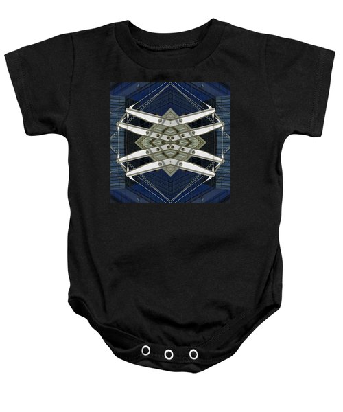 Abstract Construction Baby Onesie