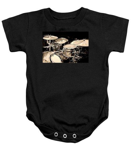Abstract Drum Set Baby Onesie
