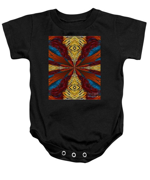 Abstract Feathers Baby Onesie