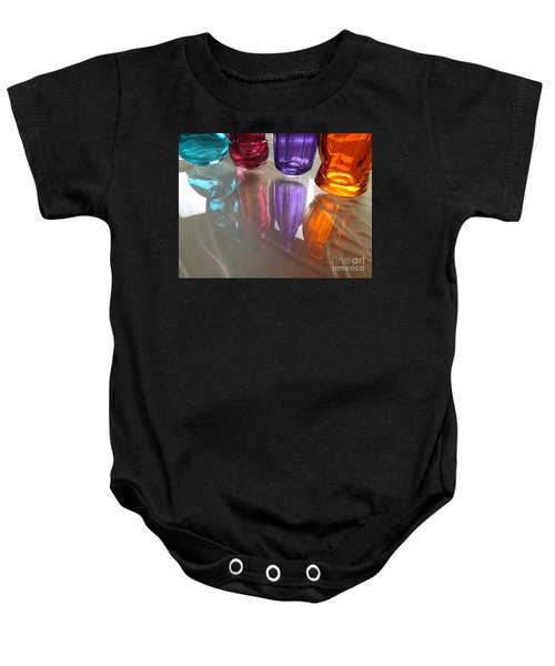 Abstract Reflections #4 Baby Onesie