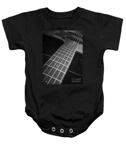 Acoustic Guitar Baby Onesie
