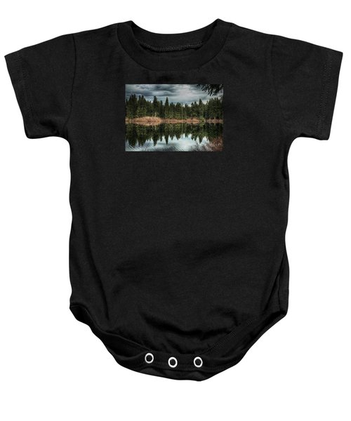 Across The Lake Baby Onesie