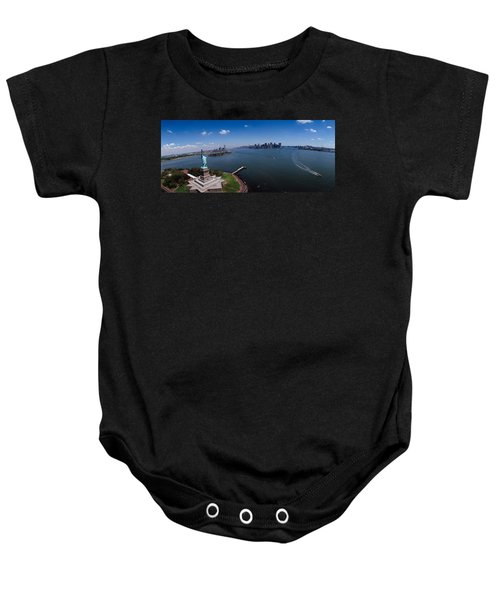 Aerial View Of A Statue, Statue Baby Onesie