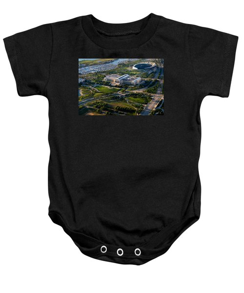 Aerial View Of The Field Museum Baby Onesie by Panoramic Images