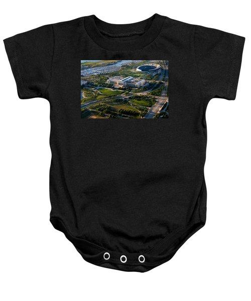 Aerial View Of The Field Museum Baby Onesie