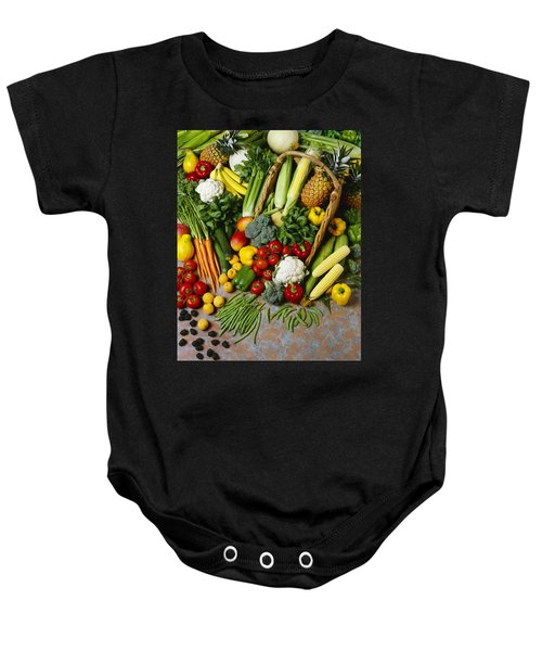 Agriculture - Mixed Fruit Baby Onesie