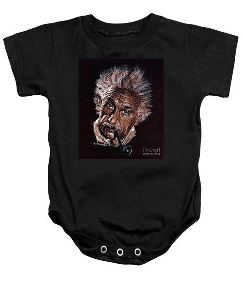 Albert Einstein Portrait Baby Onesie