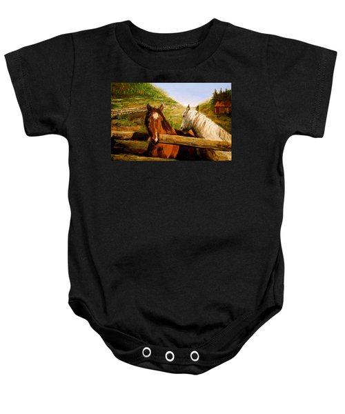 Alberta Horse Farm Baby Onesie