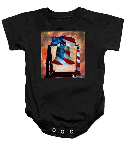 Liberty Bell Art Smooth All American Series Baby Onesie
