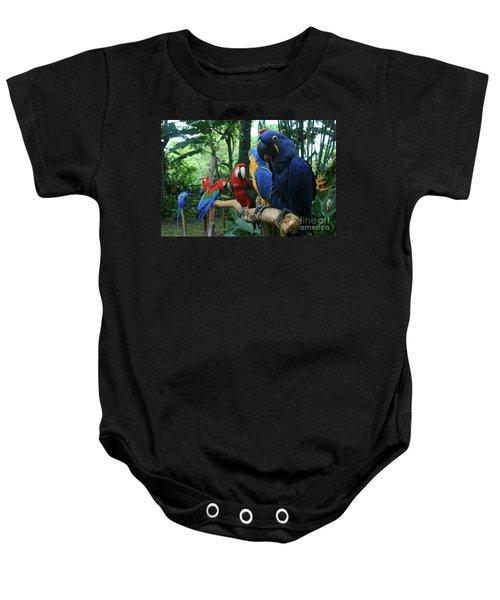 Aloha Kaua Aloha Mai No Aloha Aku Beautiful Macaw Baby Onesie