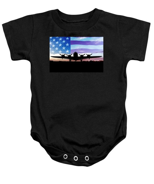 American B-17 Flying Fortress Baby Onesie