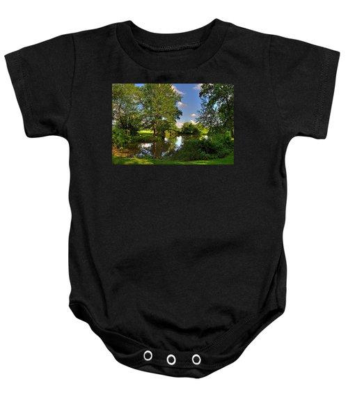 American Farm Pond Baby Onesie