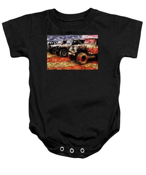 American Jeeps Baby Onesie