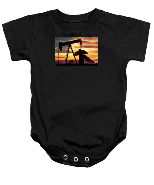 American Oil  Baby Onesie by James BO  Insogna