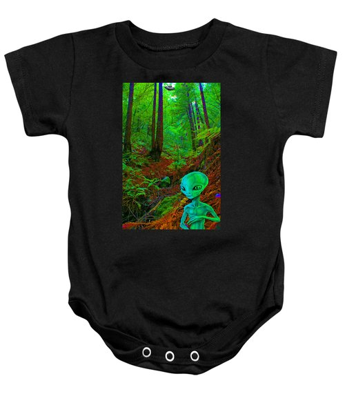 An Alien In A Cosmic Forest Of Time Baby Onesie
