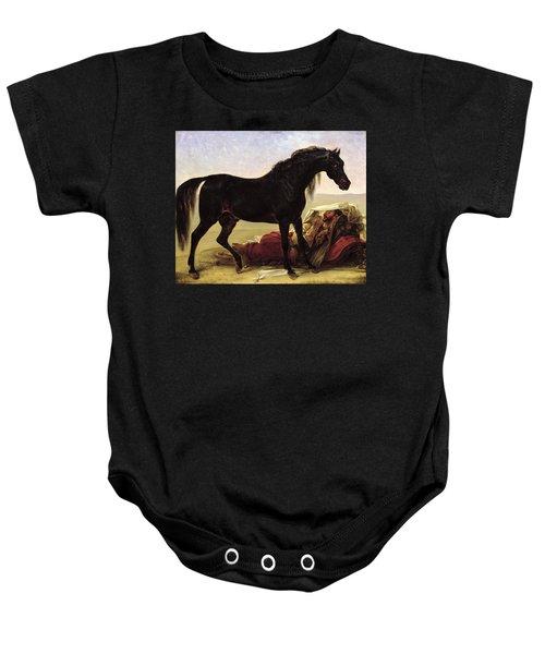 An Arabian Horse Oil On Canvas Baby Onesie